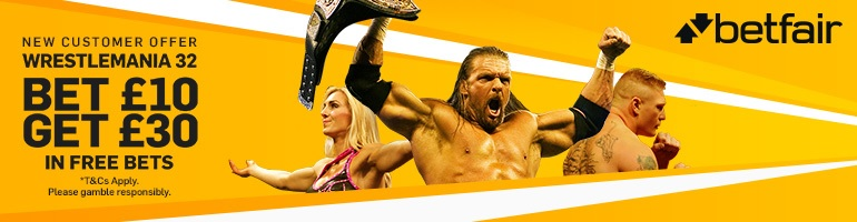 Betfair Wrestlemania banner - large