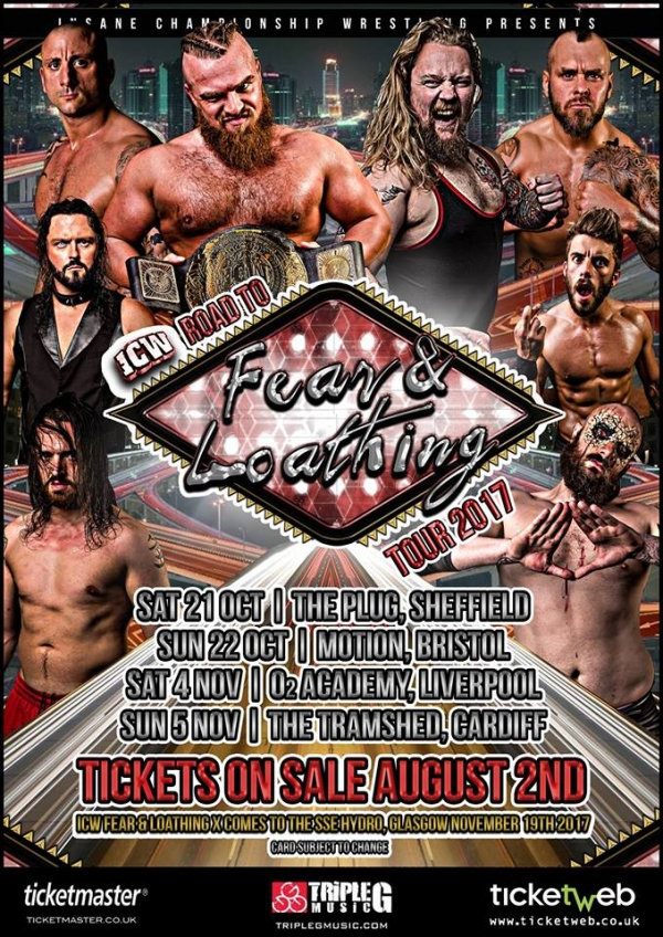 ICW: Road To Fear & Loathing Tour 2017 - Bristol
