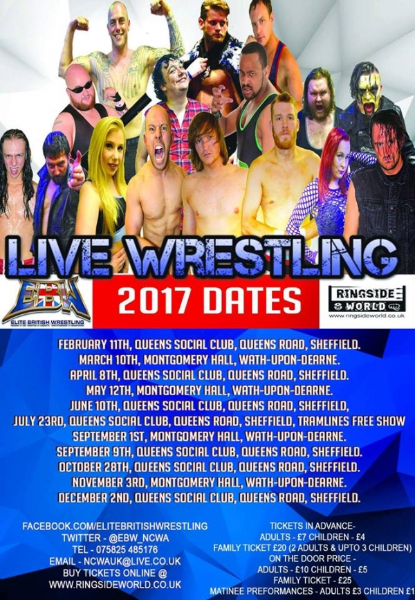 Elite British Wrestling 2017 Season Ticket