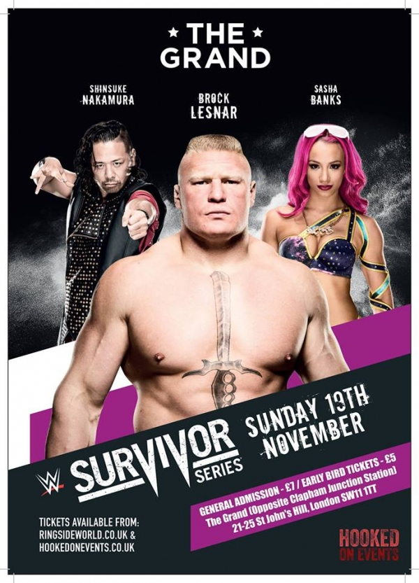 A Hooked On Events WWE Survivor Series Viewing Party - LONDON