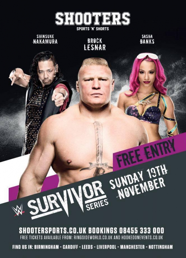 A Hooked On Event: Birmingham Survivor Series Party - FREE ENTRY