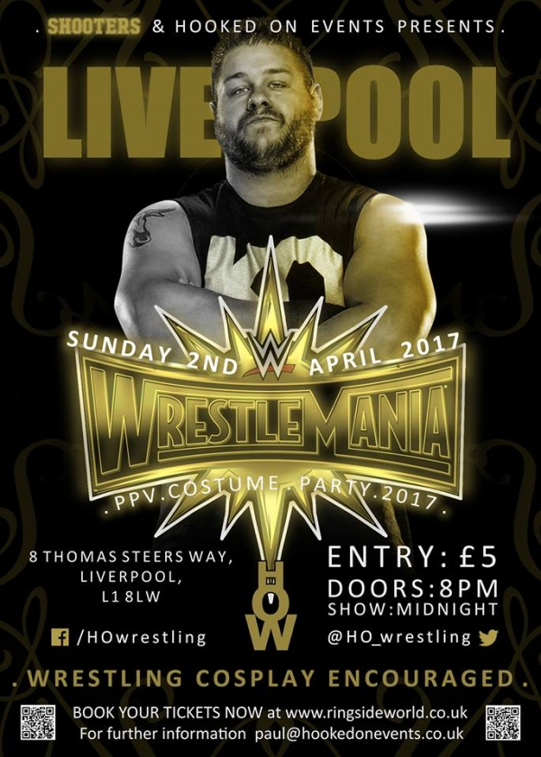 A Hooked On Events Viewing Party: WrestleMania 33 - Liverpool