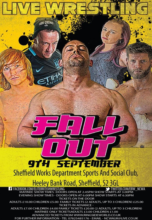 Elite British Wrestling Presents Fall Out 2017