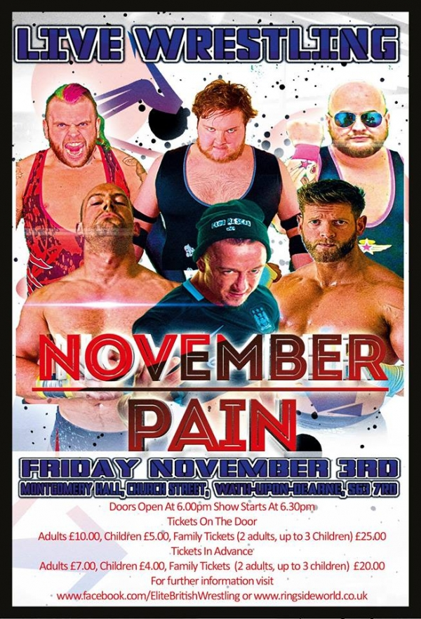 Elite British Wrestling Presents November Pain 2017