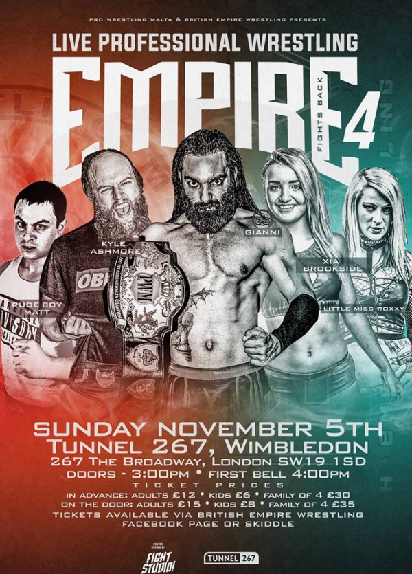 British Empire Wrestling Presents Empire Fights Back 4!