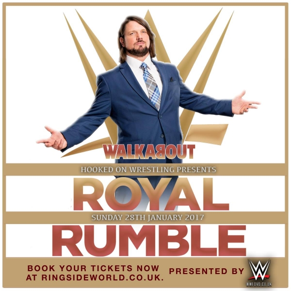 A Hooked On Event: GLASGOW WWE Royal Rumble Viewing Party