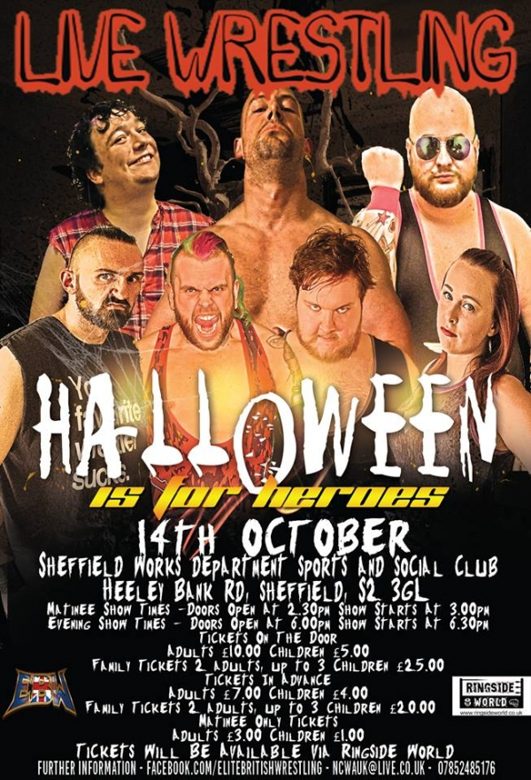 Elite British Wrestling Presents Halloween is for Heroes