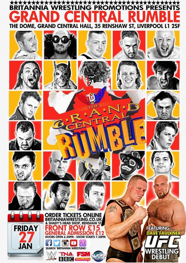 Britannia Wrestling Promotions Presents Grand Central Rumble