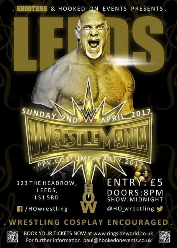 A Hooked On Events Viewing Party: WrestleMania 33 - Leeds