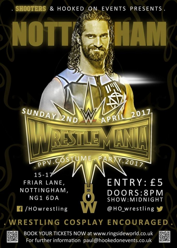 A Hooked On Events Party: WrestleMania 33 - Nottingham