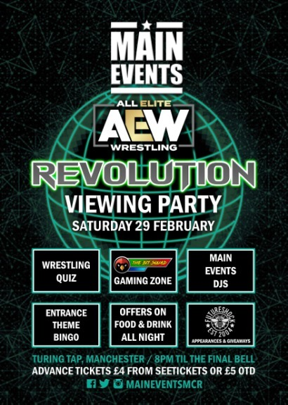 Main Events : AEW Revolution Party