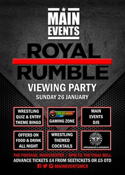 Main Events : Royal Rumble 2020 Party Manchester