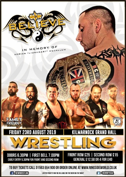 BCW Presents BELIEVE - A Night In Memory Of Lionheart taking place at Kilmarnock Grand Hall