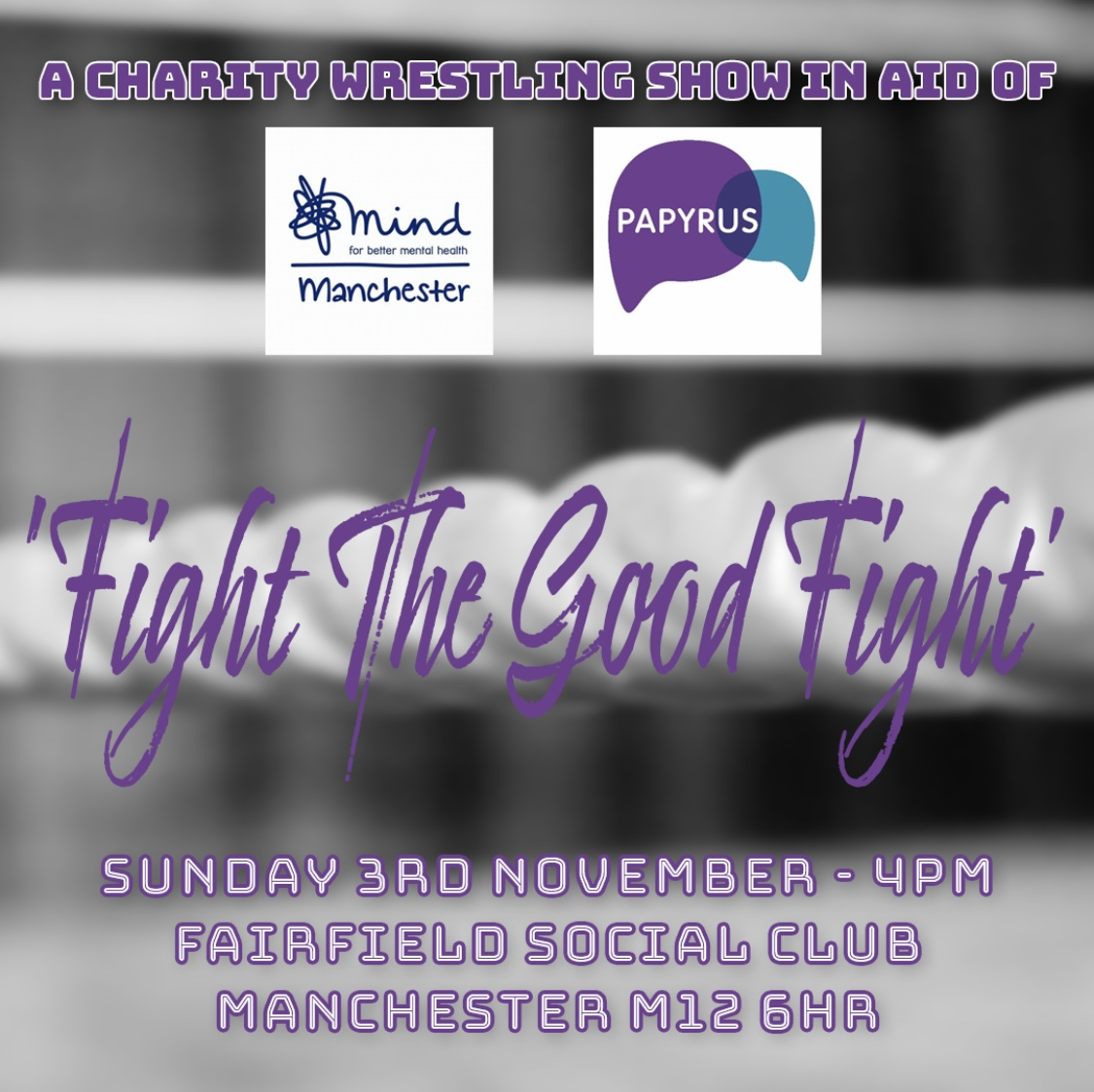 Fight The Good Fight - Charity Wrestling Show event description image