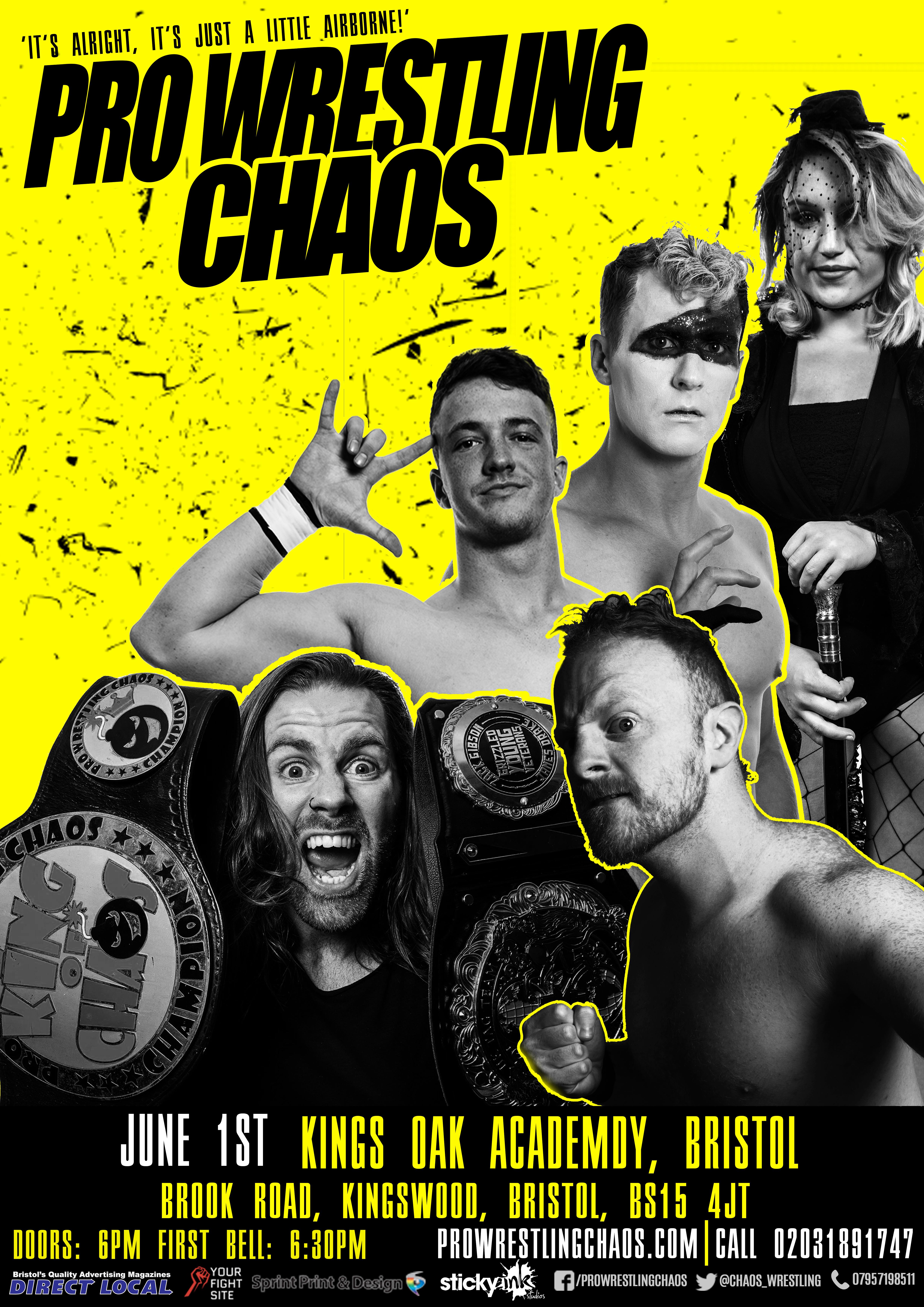 Pro Wrestling Chaos: It's alright, it's just a little airborne  event description image