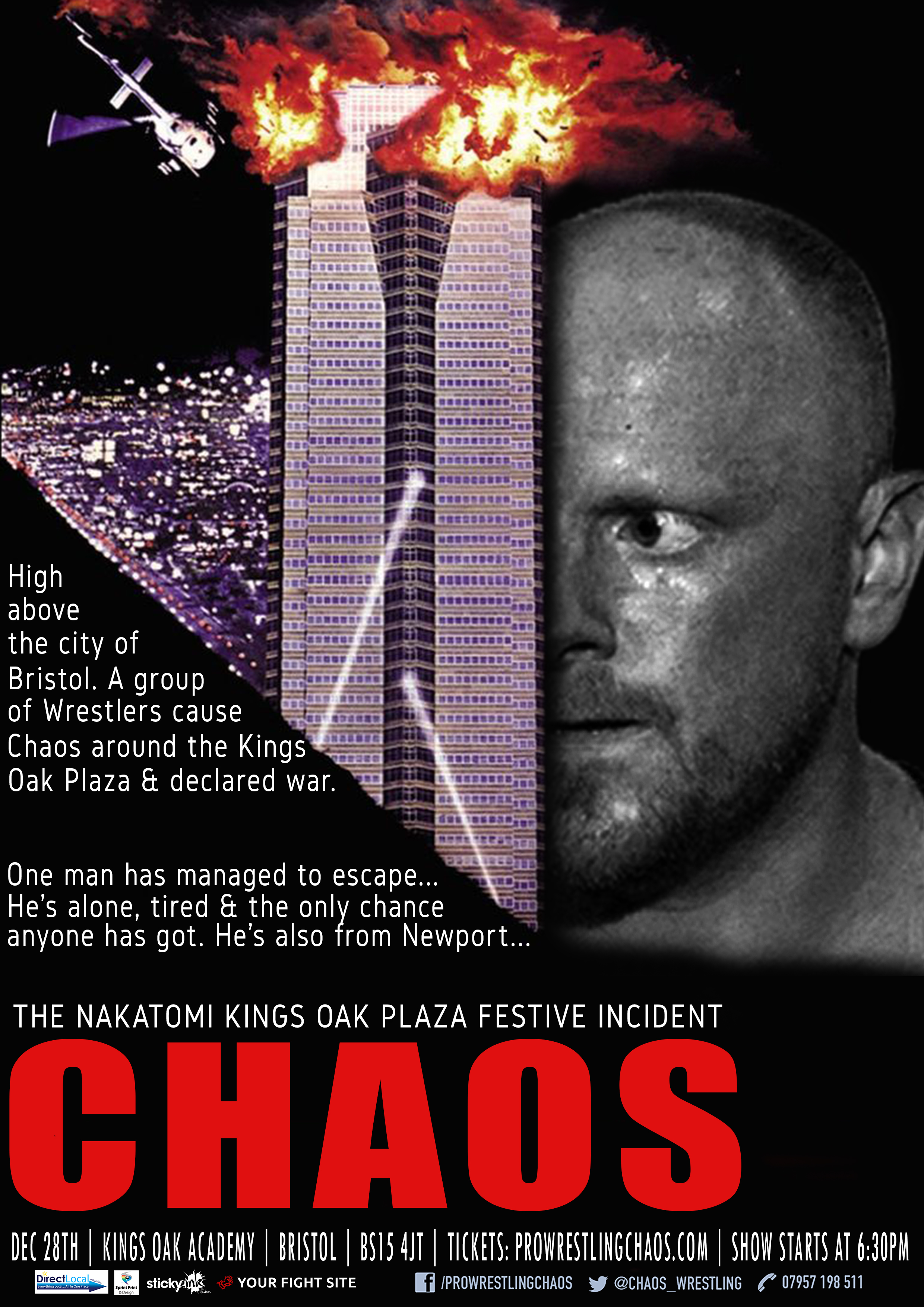 Pro Wrestling Chaos: The Nakatomi Kings Oak Plaza Festive Incident event description image